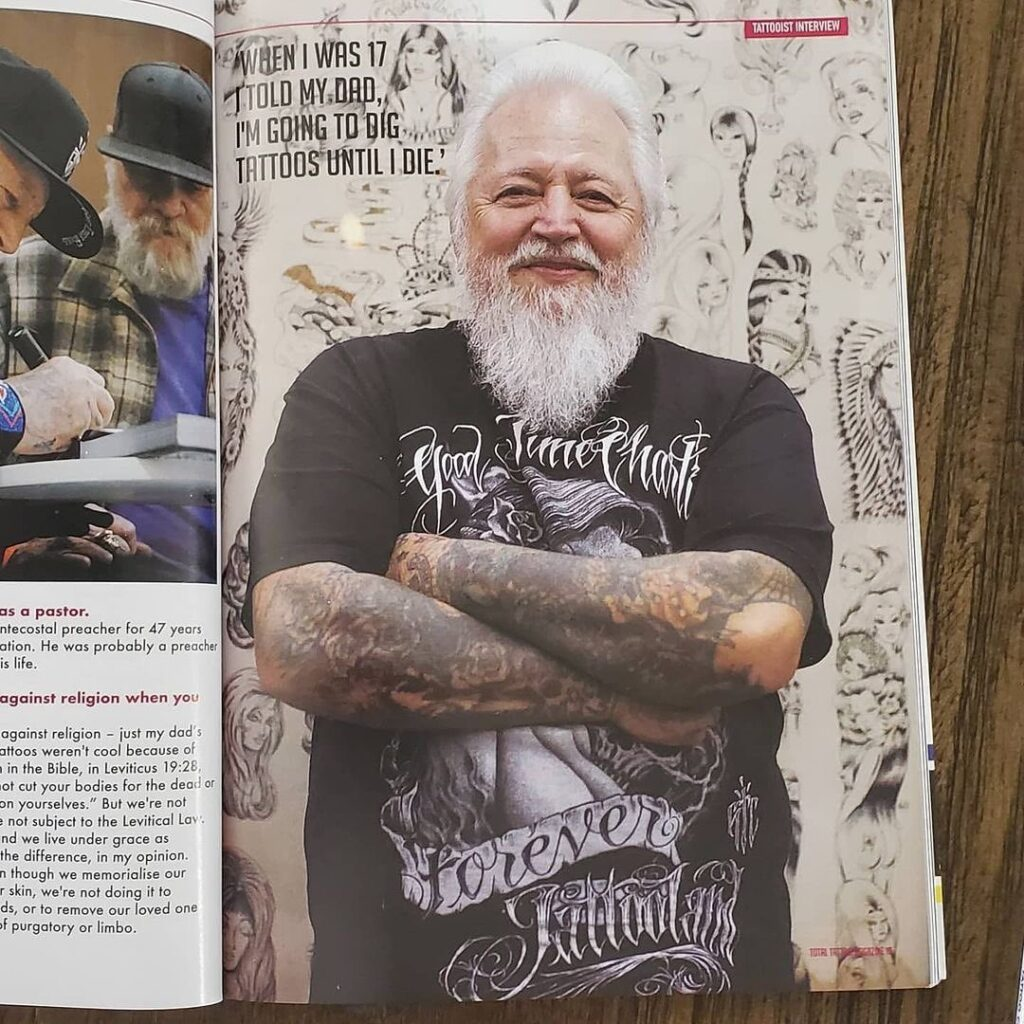 Charlie Cartwright interview on Total Tattoo magazine