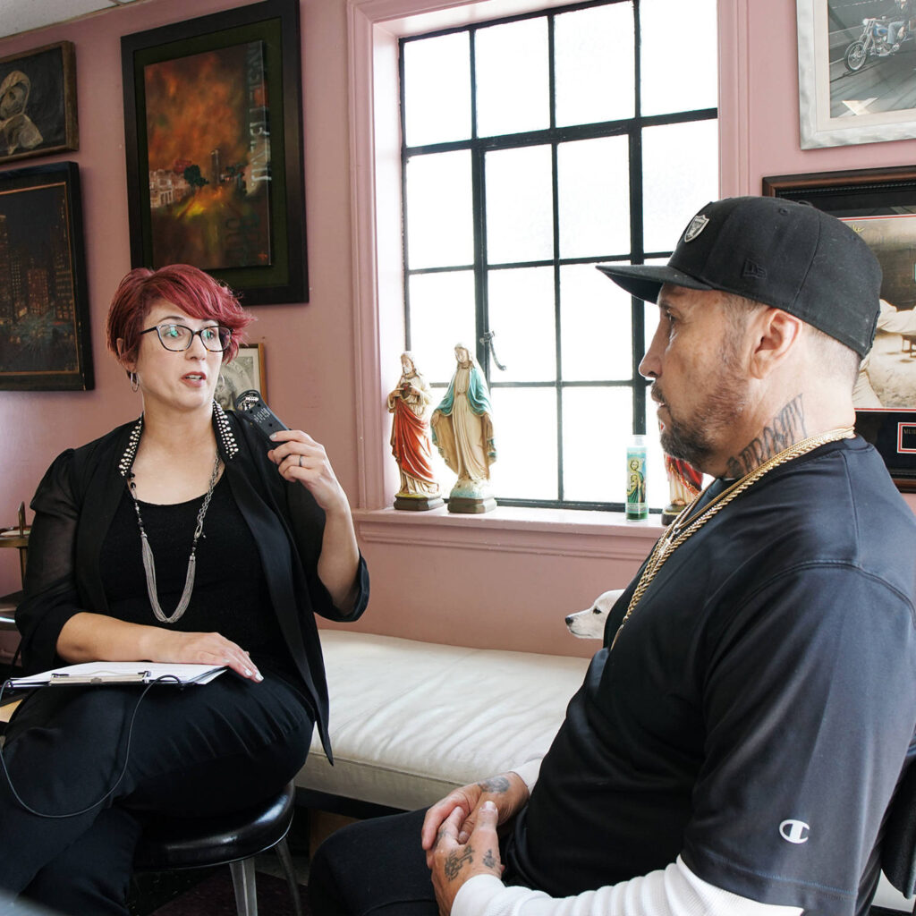 An interview with Chicano tattoo legend Freddy Negrete at Shamrock