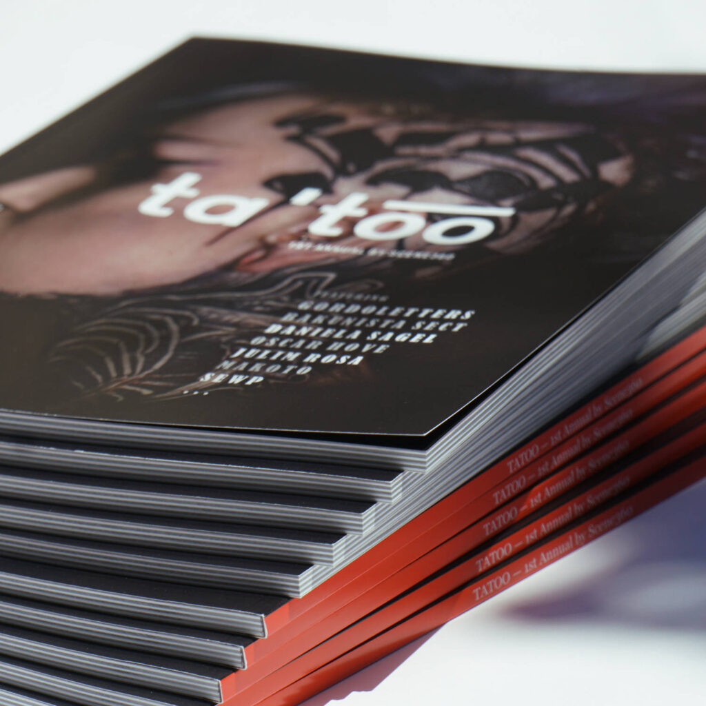 """Design, writing, and production of the """"Ta'too"""" lux softcover"""